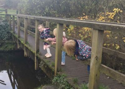 Children on a bridge