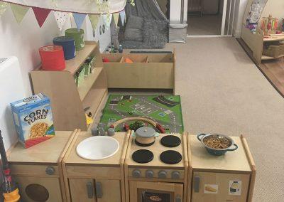 Play area at Lilliput Nursery School