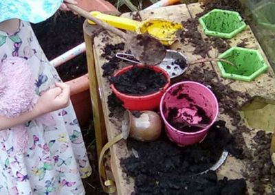 Playtime gardening at Lilliput Nursery School at Lilliput Nursery School